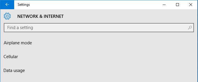 Windows 10 Settings Data Usage
