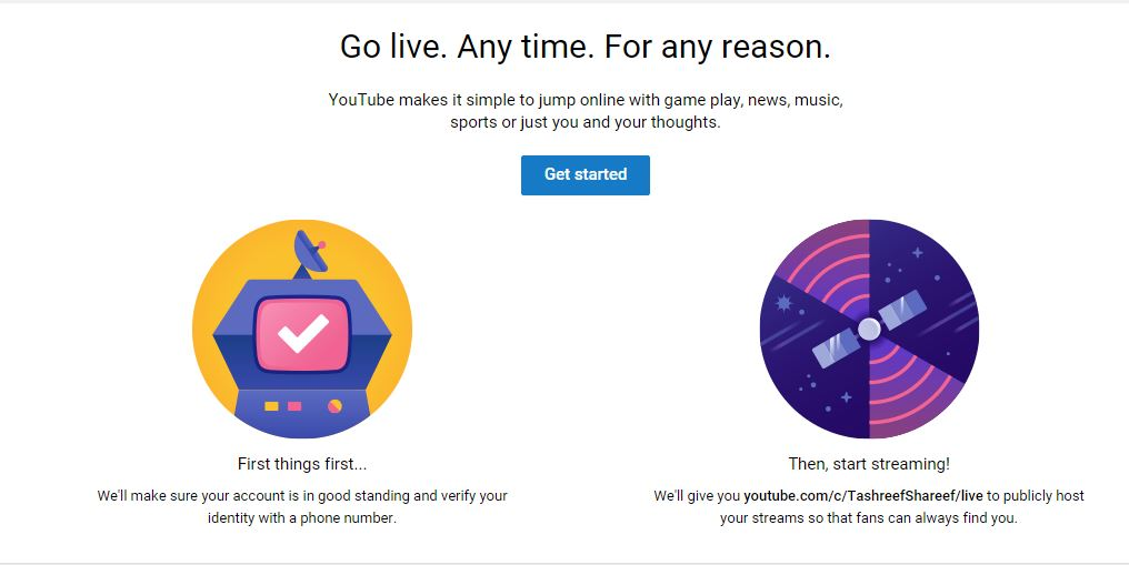 YouTube Stream Now Get started