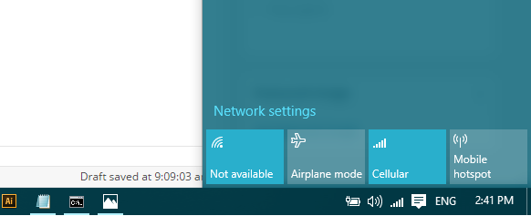 enable WiFi windows 10