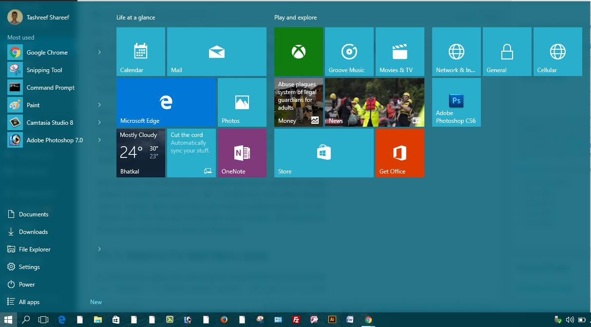 Fix Start Menu Not Working Issue in Windows 10