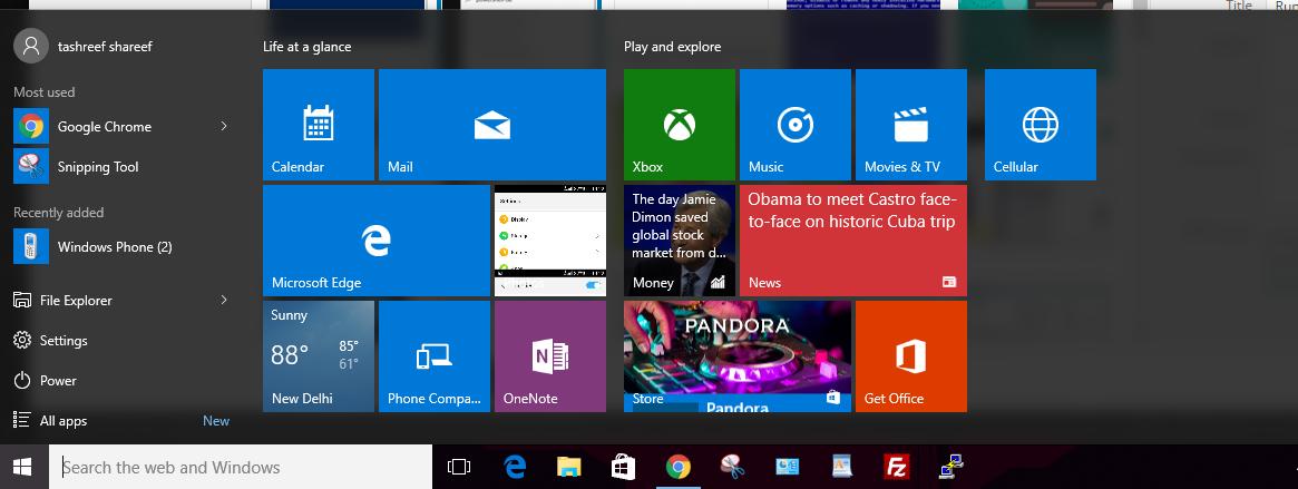 Start Menu Working Again in Windows 10