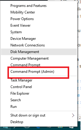 Command prompt admin Windows 10