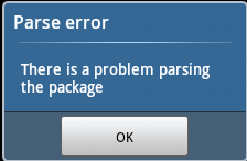 Fix Parse Error - There is a Problem Parsing the Package