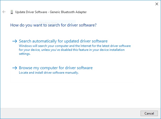 Update Driver Windows manually