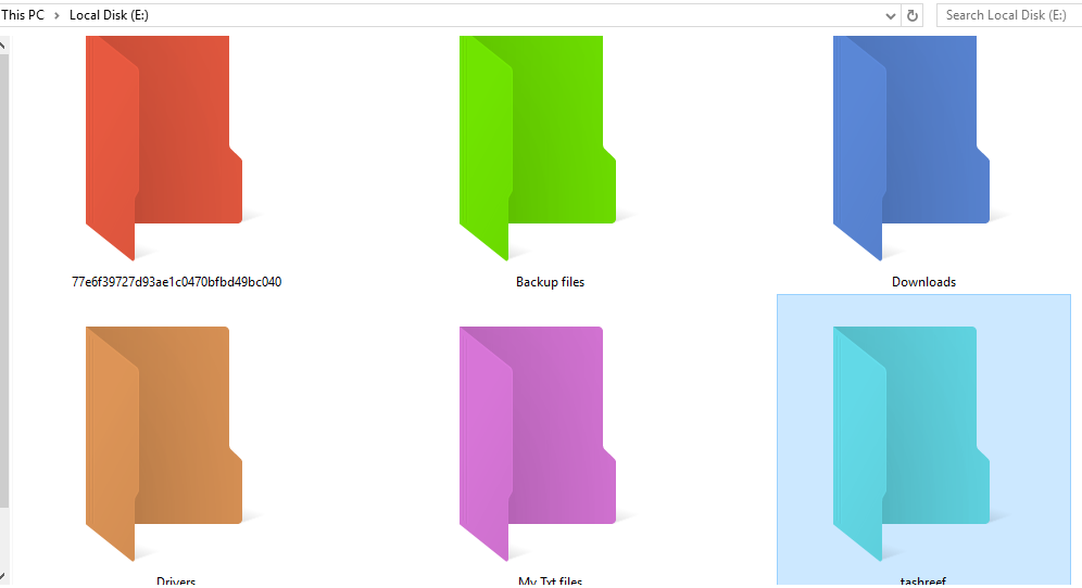 Customize Folder with Different colors in Windows 10