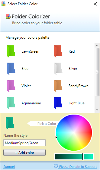 customize folder colorizer in Windows 10