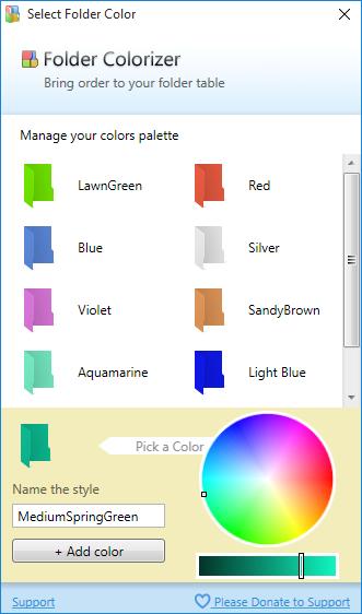 customize folder colorizer in Windows 10