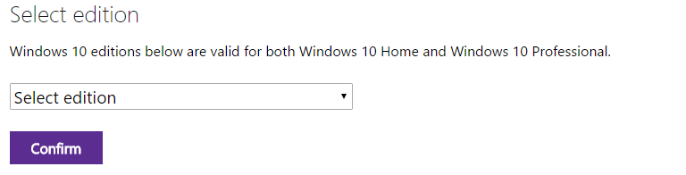Select an Edition Windows ISO Download Tech Bench