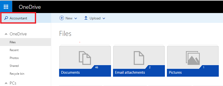 OneDrive Search
