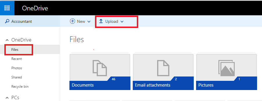 OneDrive Upload