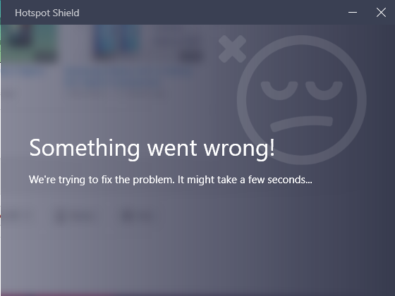 hotspot-shield-something-went-wrong-error