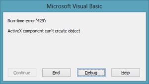 Fix Runtime Error 429 ActiveX Component can't Create Object