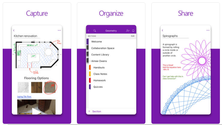 OneNote for iOS and Android