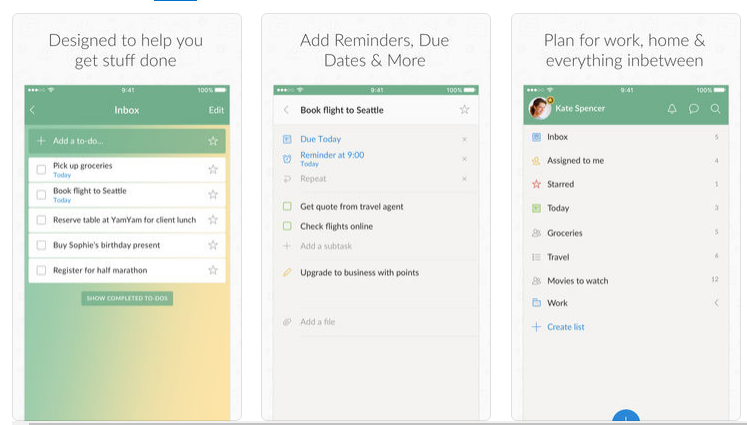 Wunderlist for iOS and Android