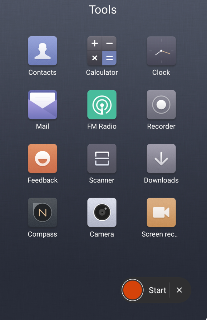 Start Screen Recording Xiaomi Phone